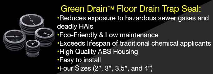 Green Drain Floor Drain Trap Seal: