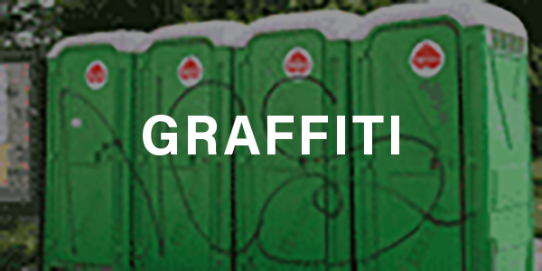 Remove Graffiti from Portable Toilets