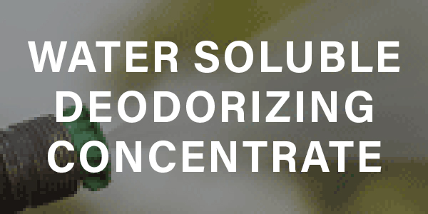 Water-Soluble Deodorizing Concentrate for Portable Sanitation